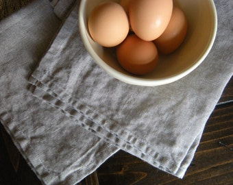 the ola washed linen tea towel