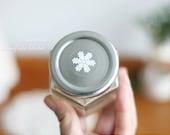25 White Snowflake Transparent Sticker (swp0259)