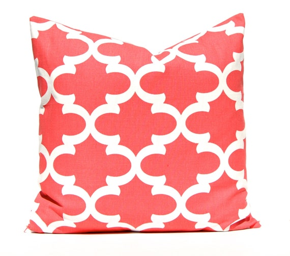 Product - Peach Throw Pillow Cushion Cover, Soft Colored Background with Crowns and Floral Abstract Motifs with Faded Look Monochrome, Decorative Square Accent Pillow Case, 16 X 16 Inches, Coral.