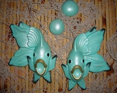 Made to Order: Vintage Reproduction Chalkware Miller Studios Angel Fish Set