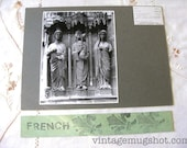 French REIMS  France Basilica of St. Reims  Cathedral Original ANGEL and Saints Photograph  Architectural Photo UC Berkeley