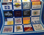 Custom Quilt made from T-shirt  with Minky Dot backing - Deposit