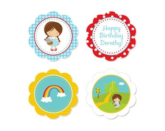 50% Off Sale! - PRINTABLE Dorothy/Wizard of Oz Party Circles