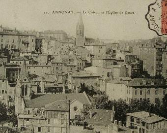 Antique Postcard - Annonay, Ardeche, France