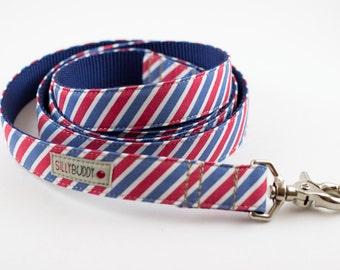 Red White Blue Stripes Dog Leash