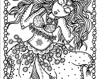 5 pages Instant Download Belly Dancer Coloring pages Digital Files/adult coloring/coloring/digital/digi stamp/dance
