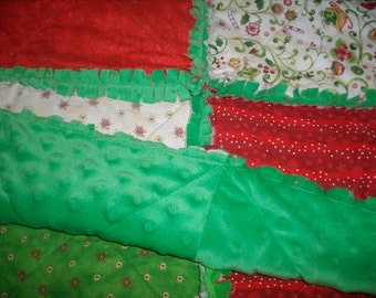 Christmas Minky Rag Quilt