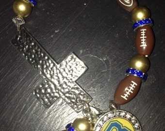 Football Cross Bracelet
