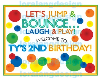 DIY Printable Bouncy Ball Birthday Party Yard Sign