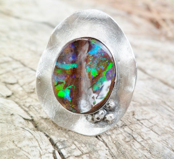 Items Similar To Opal Ring Exquisite Braided Opal: Items Similar To Opal Ring. Opal And Sterling Silver Ring
