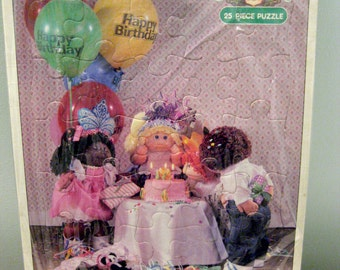 Vintage Cabbage Patch Kid Birthday Frame Tray Puzzle