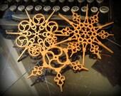 Steampunk Snowflakes Copper Finish