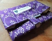 BIGGER, FRESHER Reusable Sandwich Wrap by SewEco// Triple Layered/INSULATED/Amethyst
