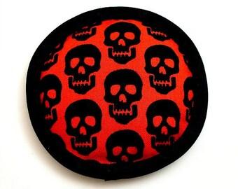 Halloween Catnip Toy, Goth Cat Toys, Catnip Skull Toy, Skull Pillow, Black Skulls, Cool Cat Toys, Black and Red Pillow,  MOLTI CRANI