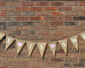 Love is Sweet  /  Burlap Banner   /  Sweet Love / Bunting  /  Sweets Table  /  Wedding Banner / Reception Decoration / Shower