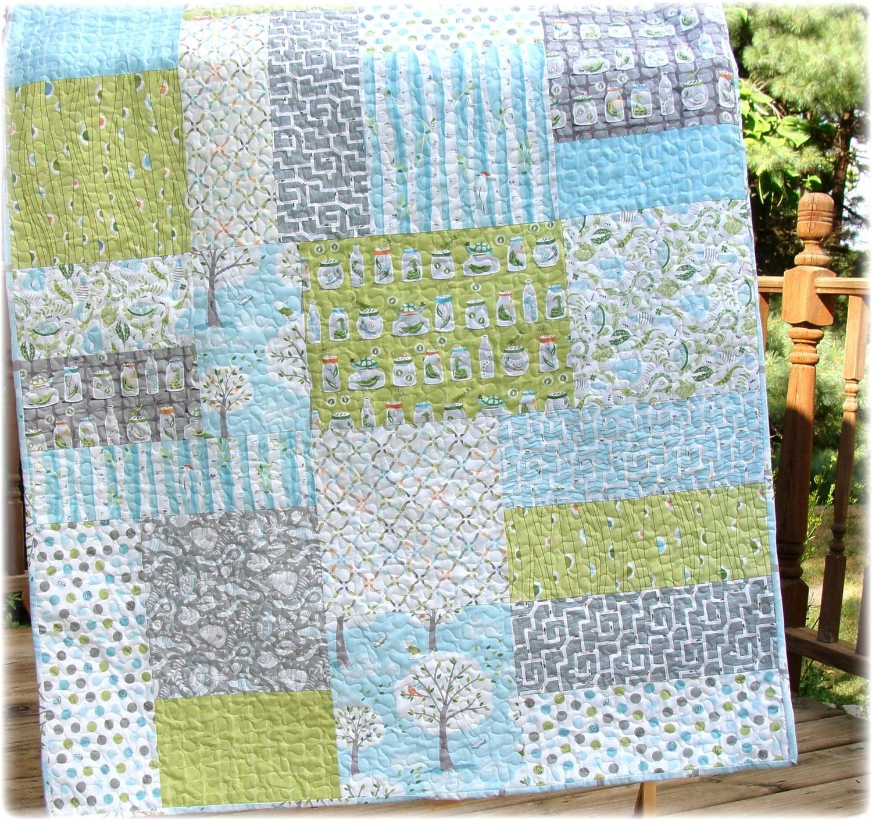 Pdf Quilt Pattern Seaworthy Modern Big Block Baby Quilt