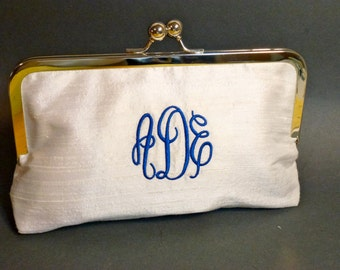 Bridal Clutch | Bridesmaids Clutch | Monogrammed Clutch | Customize | Silk
