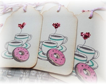 Coffee and Donuts tags (4)