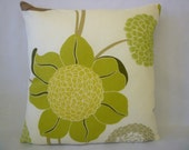 "Decorative Pillow Green Designer Pillowcase Sham Slips Accent Throw Pillow. ONE x 16"" (40cm)"