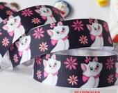 CLEARANCE SALE8FREE Shipping * 3 yards x  25mm  Grosgrain Ribbon,Disney My Marie Cat Cute Girls Sewing Scrapbooking Hair Ribbon Bows