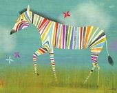 Rainbow Zebra, Canvas Art Print