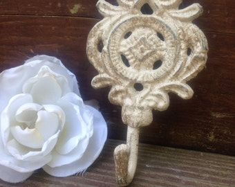 Wall Hook, Cute Shabby Chic Hook/Wall Hanger/ Home and Garden Decor/ Plant Hanger/ Curtain Tieback- HArdWAre INCluDED
