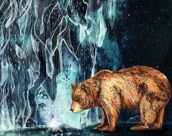 Bear Cave // A4 Print