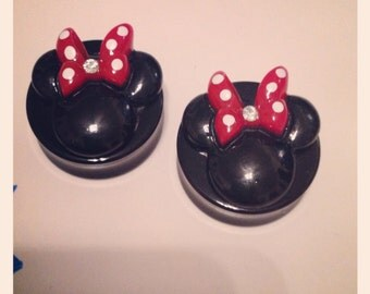 1 Inch Minnie Inspired Plugs