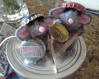 Mouse Warrior Friends Finger Puppets Hero Pretend  Recycle Buddies