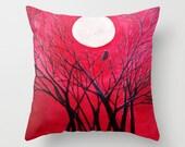 Raven's Echo Art Pillow Abstract