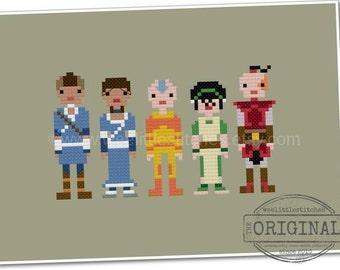 Avatar the Last Airbender - The *Original* Pixel People - PDF Cross Stitch Pattern - INSTANT DOWNLOAD