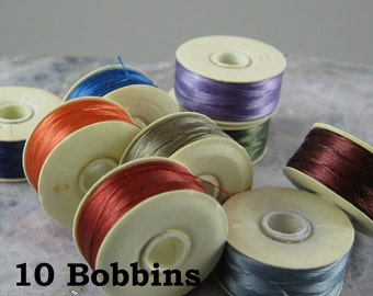 Nymo Beading Thread, Size B, 10 bobbins, color assortment