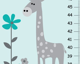 Giraffe growth chart | Etsy