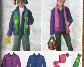 Simplicity 3948 Boys and Girls Jacket, Hats, Scarf, Bag, and Mittens Sewing Pattern