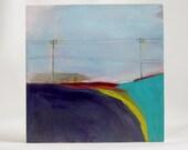 """Landscape V,  6""""x6"""", Original Oil Painting on wood board."""