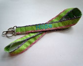 Lanyard PERSONALIZED in Pastel Animal Print Pattern With NAME Perfect for Mom, Teacher, Student, Nurse