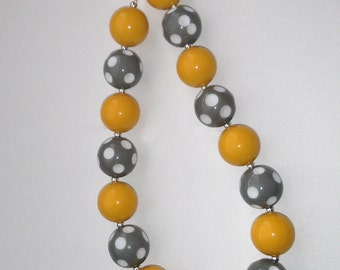Mustard and Gray Necklace