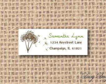 Return Address Labels - Dandelion Bunch - 120 self-sticking labels