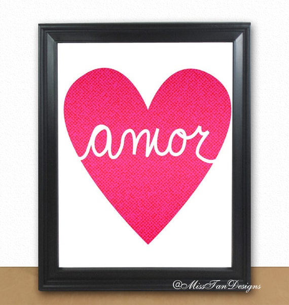 amor print by MissTanDesigns on Etsy