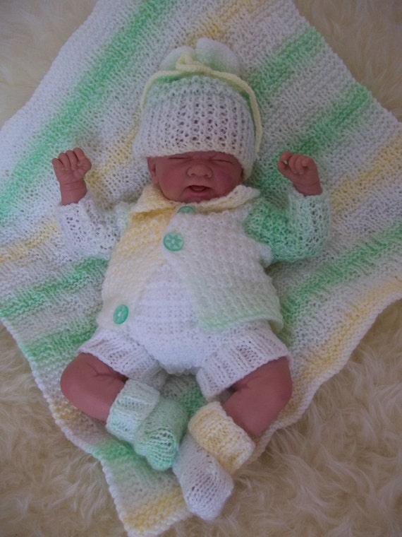PDF Knitting Pattern Early Baby or 14-16 Reborn Dolls