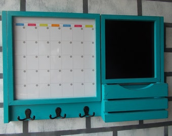 Dry Erase Magnetic Calender/Message center/Corkboard Center/Message Board