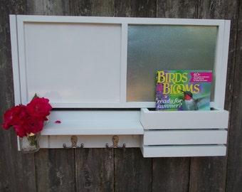 Large Message Organizer--Message Center--Letter holder--Magazine Holder--Mason Jar Vase--Message Board