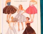 Vintage 80s GUNNE SAX Jessica McClintock SIMPLICITY 8534 Party Dress Size 10