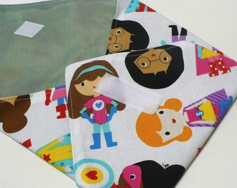 Reusable Sandwich Wrap Bag - Superhero Girls