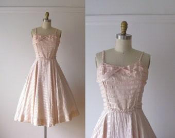vintage 1950s dress / 50s dress / Cotton Candy