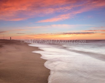 Atlantic Ocean Dawn on Long Island Photograph Print 8x10