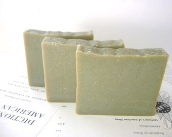 French Green Clay and Lemon Verbena Handmade Soap, Vegan and All Natural bar soap