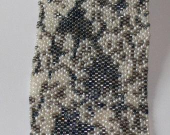 Seed Bead PATTERN Braided Lace  #7 Peyote Stitch Bracelet