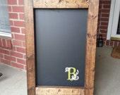 Monogrammed Chalkboard Easel
