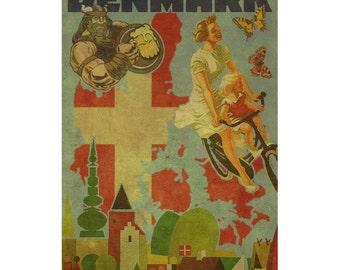 DENMARK 2FS- Handmade Leather Photo Album - Travel Art